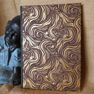 Carnet artisanal or et brun / A5 (80 Pages)