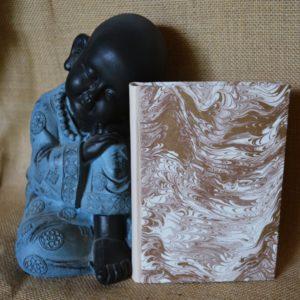 Carnet artisanal A6 / 80p or et ivoire